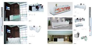 White Curved Reception Desk Modern White Curved Reception Desk Front Desk For Sale View