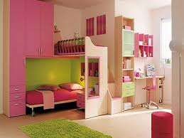 bedroom beautiful pink white wood cool design kids room ideas