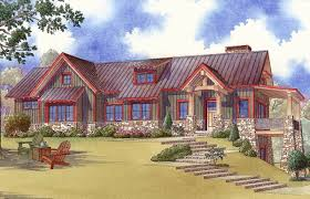 rustic house plan with lower level game or bunk room 70526mk