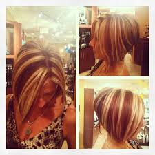 highlights for inverted bob bob haircut with red and blonde highlights hair