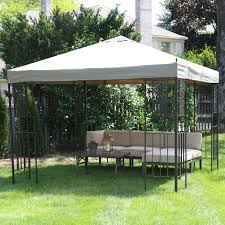 Gazebo With Awning Coral Coast Garden Bloom 10 X 10 Ft Gazebo Hayneedle