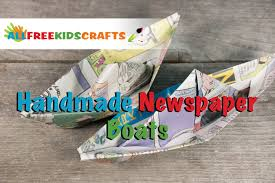crafts for kids how to make a newspaper boat youtube