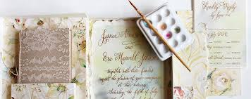 unique handmade watercolor wedding invitations momental