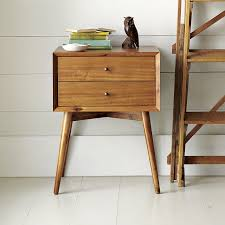 MidCentury Nightstand Acorn West Elm - West elm mid century bedroom furniture