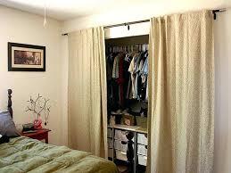 Replacing Sliding Closet Doors Replace Closet Doors With Curtains Bedroom Closet Door Curtains