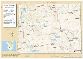 map of wyoming reference map of wyoming usa nations project