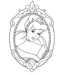 disney princesses cinderella coloring pages coloringstar
