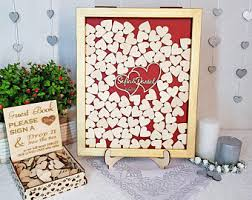 heart guest book heart guestbook etsy
