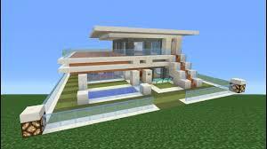 Modern House Minecraft Minecraft Tutorial How To Make A Modern House Youtube