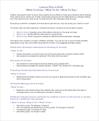 sample lesson plan 9 examples in word pdf