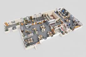 drawbotics designs 3d floor plans of famous tv show offices mad