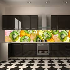 amazing kitchen photo wallpaper instead of tiles wall mural