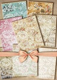 shabby chic wrapping paper scrapbook paper printable page lace vintage shabby chic