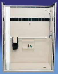 Ada Shower Door Sloped Track Barrier Free Wheelchair Accessible Handicap Shower