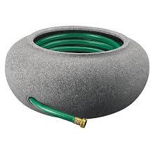 black granite finish plastic garden hose pot free shipping today