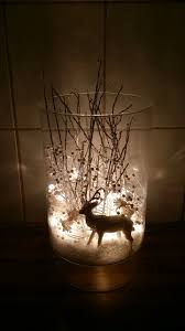 Silver Christmas Reindeer Decorations by I Took A Vase Fake Snow A White Glimmer Reindeer Some Silver