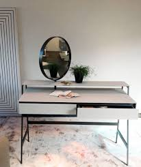 Contemporary Vanity Table Table Breathtaking Contemporary Dressing Table Glass Metal Wooden