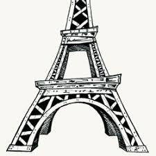 eiffel tower illustration drawing ink on paper by ryan nore