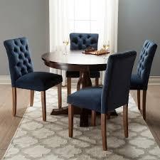 Brookline Tufted Dining Chair Brookline Tufted Velvet Dining Chair Chestnut Finish 2pk