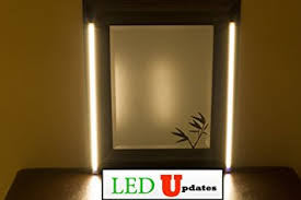 vanity mirror with led lights amazon com make up mirror led light dual 2ft vanity mirror light