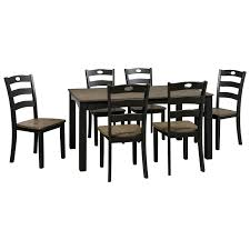 7 piece dining room set signature design by ashley froshburg two tone finish 7 piece