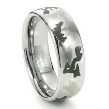 domed ring camo aka camouflage tungsten ring 8mm