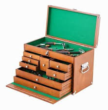 wood tool box supply storage organizer cabinet desk craft