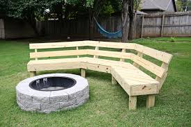 Outdoor Wooden Bench Diy by This Diy Wooden Bench Takes The Backyard Fire Pit To The Next Level