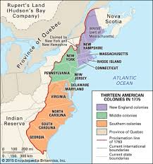 the thirteen colonies map 13 colonies in 1775 students britannica homework help
