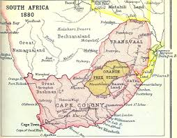Africa Colonial Map by Matabeleland Maps