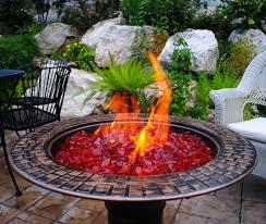 Glass Firepit Using Glass Gravel In The Garden