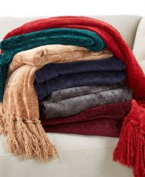 chenille throws for sofas closeout martha stewart collection chenille throw created for