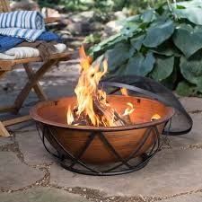 Firepit Wood Ember Taos 26 In Rubbed Bronze Wood Burning Pit Hayneedle