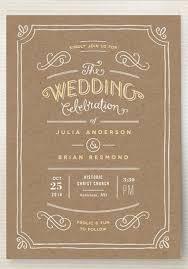 kraft paper wedding invitations delivered wedding invitations green wedding shoes