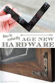 How To Age Wood With Paint And Stain Simply Swider by How To Instantly Age New Hardware Rustic Decor Hardware And