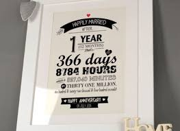 1st wedding anniversary gifts great wedding anniversary gift ideas for your husband