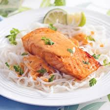 cuisine de coco saumon grillé sauce lait de coco et cari recettes cuisine et