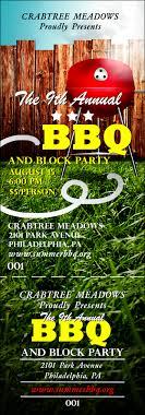 bbq tickets template backyard event ticket