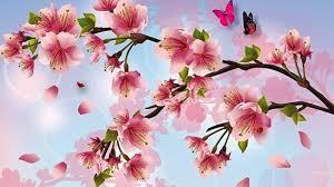 cherry blossom painting wallpaper wallpaper