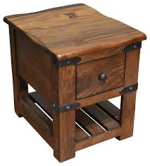 rustic pine end table rustic pine log end table display case pertaining to tables design