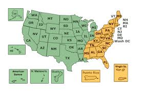 us state abbreviations map veteran benefits by state com