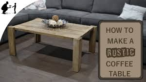 how to make a rustic coffee table youtube
