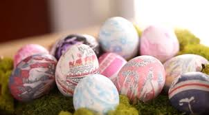 Decorating Easter Eggs With Silk Ties by Diy Tie Dyed Easter Eggs