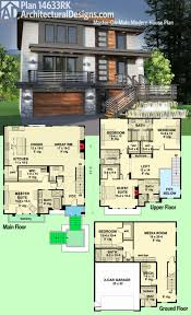 modern house plans contemporary home designs floor plan 02 one