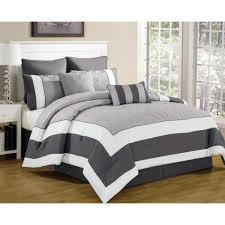 Grey Quilted Comforter Duck River Queen Comforter Set In Spain Sandstone Smoke 8 Piece