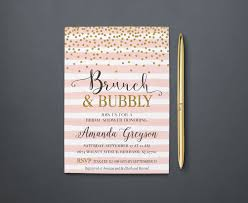brunch and bubbly invitation bridal shower brunch invite