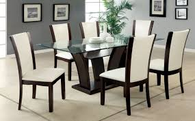 rectangle glass dining room table glass dining room tables modern dining table set beige wooden frame