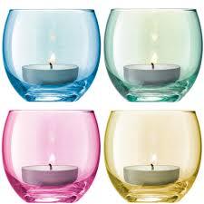 light holder lsa polka tealight holders set of 4 pastel coloured tea lights