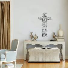 aliexpress com buy spanish quote wall sticker christian cross