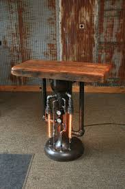 industrial pipe steam gauge lamp stand table 880